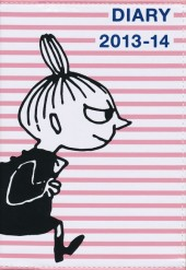 MOOMIN DIARY 2013-14 cover design by NIMES pink border×LITTLE MY