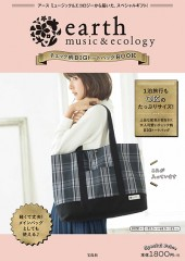 earth music & ecology チェック柄BIGトートバッグBOOK