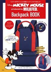 Disney MICKEY MOUSE produced by MILKFED. Backpack BOOK