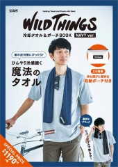 WILD THINGS 冷却タオル&ポーチBOOK NAVY ver.