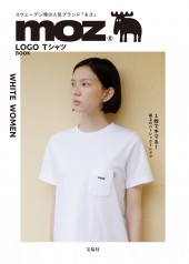 moz LOGO Tシャツ BOOK WHITE WOMEN