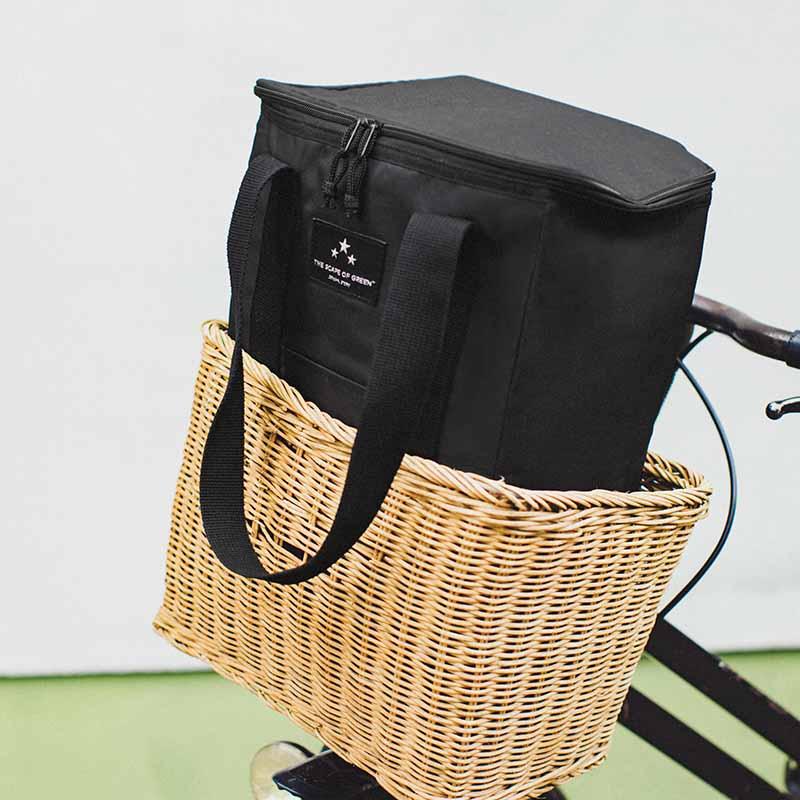 ザ スケープ オブ グリーン「ちゃりかごサイズの背負える 保冷ショッピングバッグ」