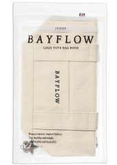 BAYFLOW LOGO TOTE BAG BOOK IVORY