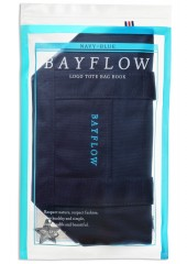 BAYFLOW LOGO TOTE BAG BOOK NAVY×BLUE