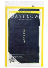 BAYFLOW LOGO TOTE BAG BOOK NAVY×YELLOW