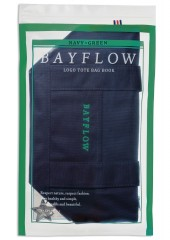 BAYFLOW LOGO TOTE BAG BOOK NAVY×GREEN