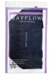BAYFLOW LOGO TOTE BAG BOOK NAVY×PURPLE