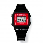 MILKFED. DIGITAL WATCH BOOK BLACK
